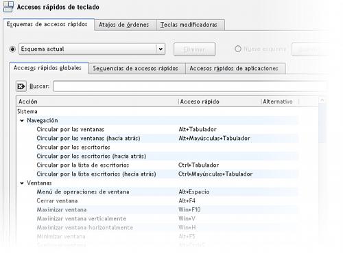 Configurador de Accesos Directos en KDE