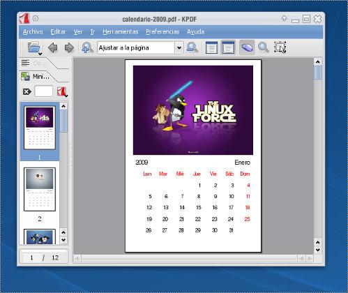 Crear un calendario con digikam