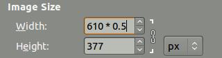 Cálculos matemáticos en los campos de tamaño