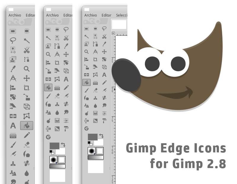 Gimp Symbolic Icon theme