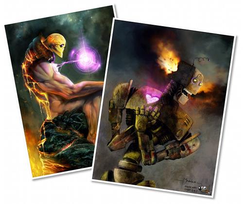 Ejemplos de trabajos hecos con GIMP Paint Studio