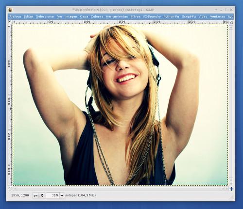 Captura del TUTORIAL de DISEÑO GRÁFICO con GIMP