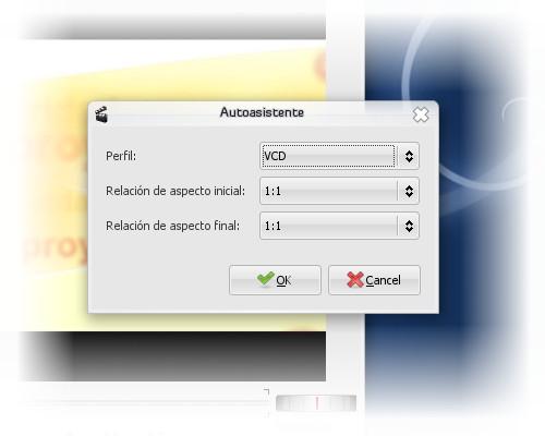 Configuración de Avidemux para codificar VIDEOCD