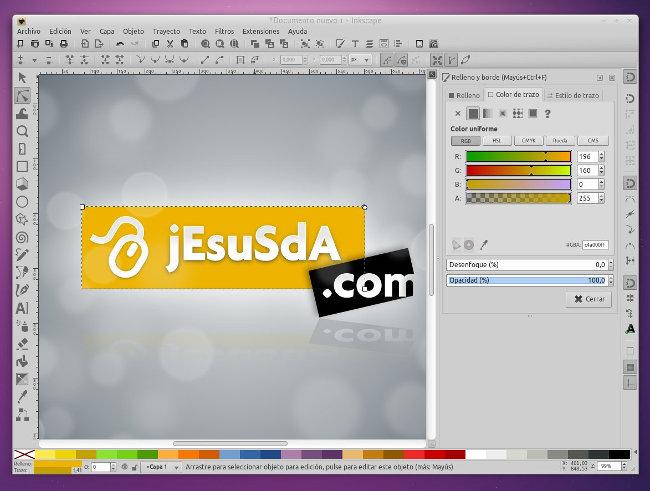 Inkscape 0.91 en el PC de jEsuSdA 8)