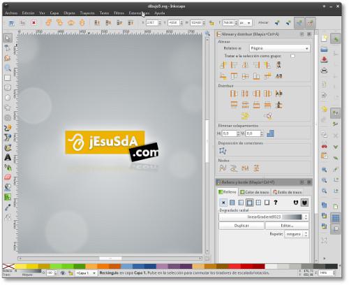 Diseñando jesusda.com con Inkscape 0.48