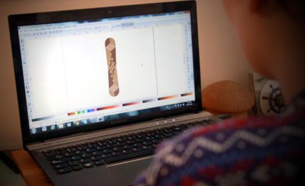 Usando Inkscape para diseñar tablas de Snow Boarding