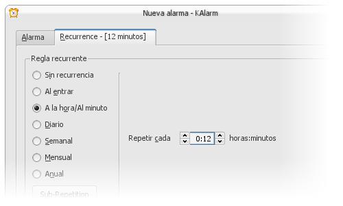 KAlarm de KDE para hacer un poco de GTD