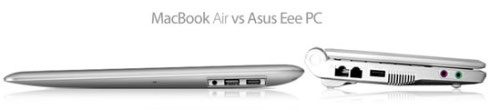 Asus EEE Vs Macbook Air