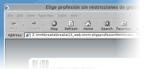 Depurando una página web con Wine e Internet Explorer