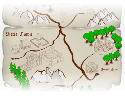 Mapa de juego de Rol con Clip-Arts libres