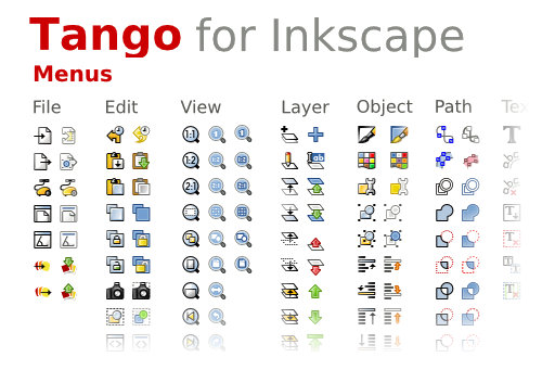 Tema Tango! para Inkscape