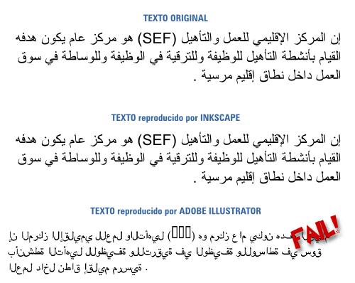 Escritura en arábica en Inkscape e Illustrator