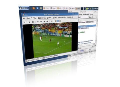 Sopcast en el EEEPC con Linux viendo la Eurocopa Gratis