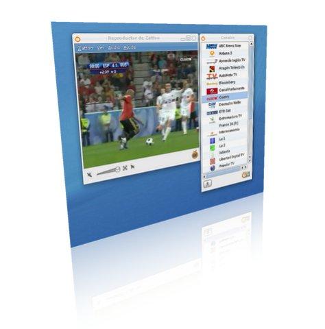 Zattoo en Linux viendo la Eurocopa Gratis