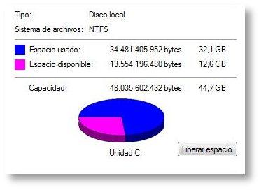 Windows Vista devorador de discos duros