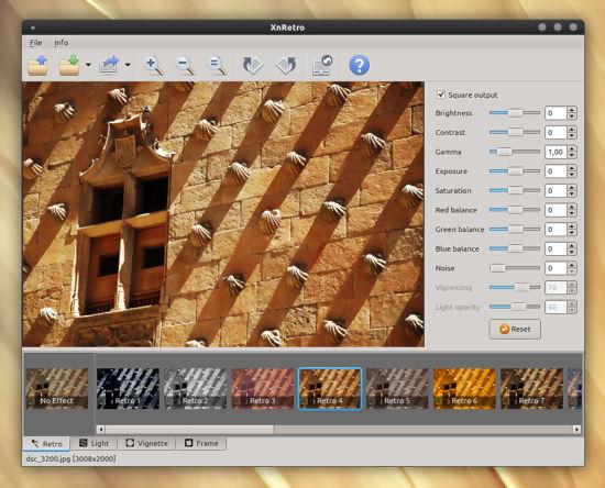 Efectos retro en fotografías con XnRetro en Linux