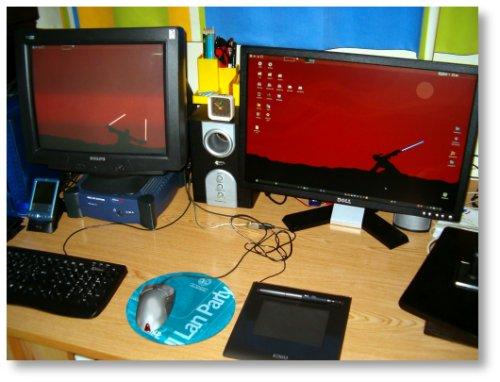 2 monitores enchufados al mismo PC con Debian GNU/Linux