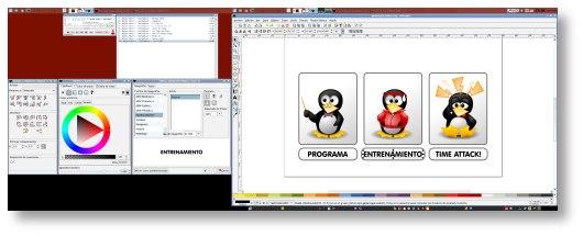Inkscape en dos monitores