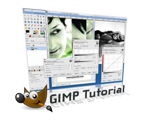 Gimp funcionando sobre Linux