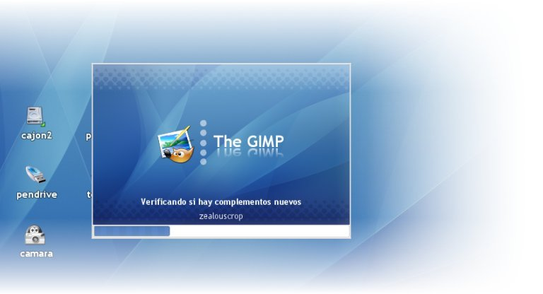 Preview del Splash Screen de Gimp